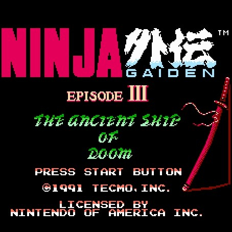 Игра Ninja Gaiden III: The Ancient Ship of Doom