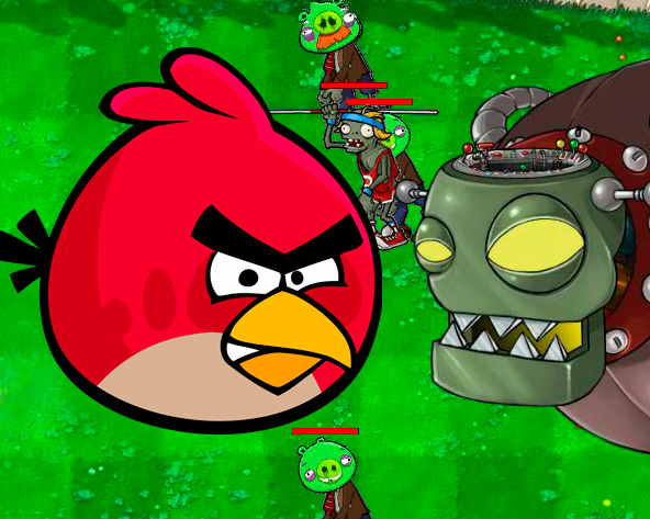 Игра Angry Birds vs Zombies